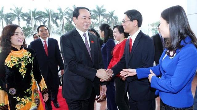 Chủ tịch nước Trần Đại Quang thăm và làm việc tại tỉnh Ninh Bình