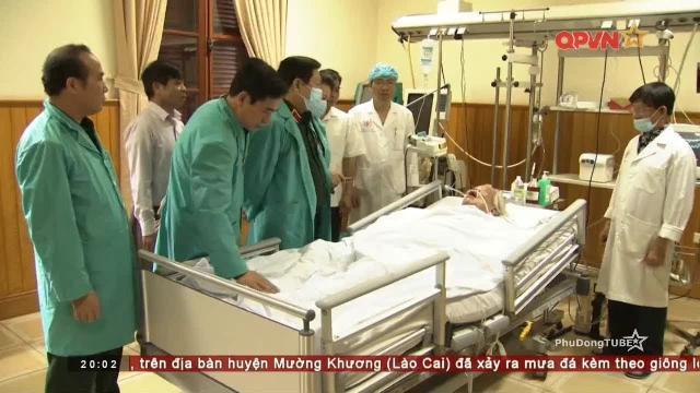 Lãnh đạo Quân ủy trung ương thăm Tổng bí thư Đỗ Mười tại Bệnh viện Quân y 108