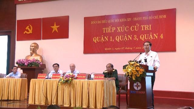 Chủ tịch nước Trần Đại Quang tiếp xúc cử tri tại TP. Hồ Chí Minh