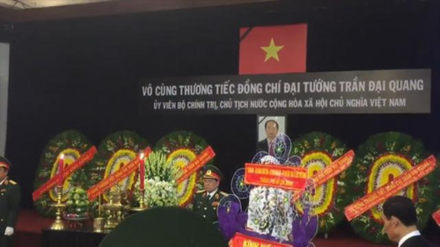 Hàng ngàn người viếng Chủ tịch nước Trần Đại Quang ở TP.HCM