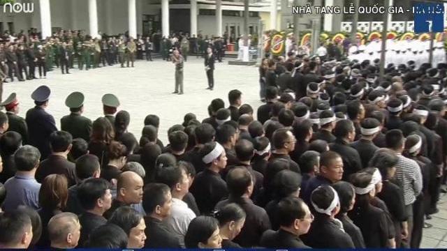 Các đoàn vào viếng cố Chủ tịch nước Trần Đại Quang
