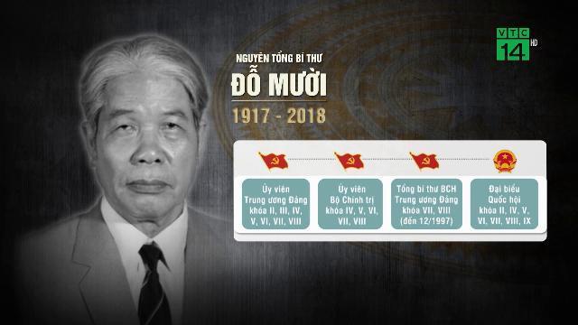 Quốc tang Nguyên Tổng bí thư Đỗ Mười trong 2 ngày 6 và 7/10