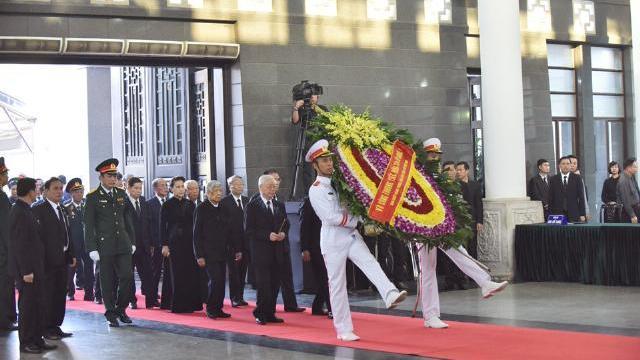 Lễ viếng nguyên Tổng bí thư Đỗ Mười tại Nhà tang lễ quốc gia
