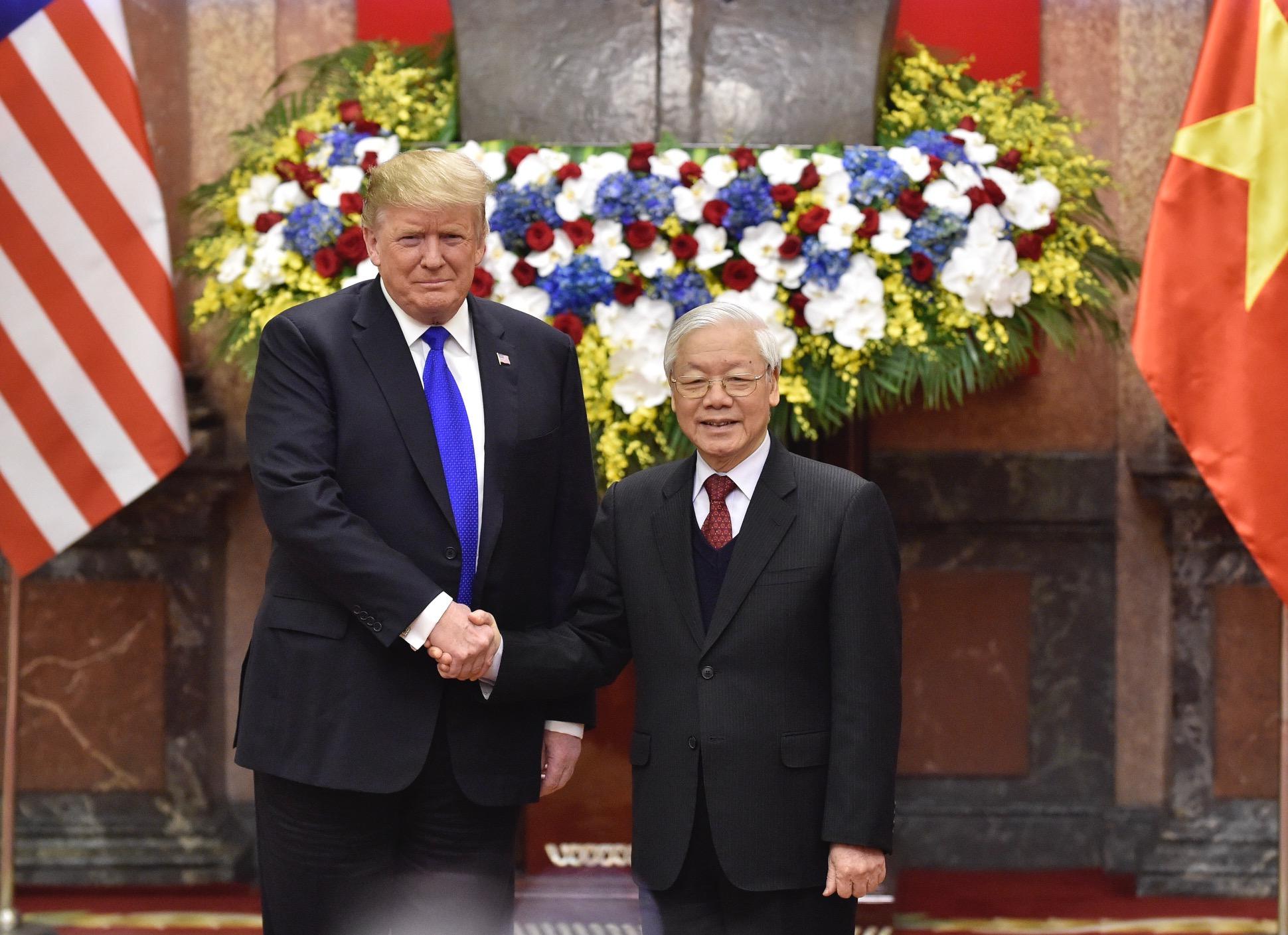 [TRỰC TIẾP] Tổng Bí thư, Chủ tịch nước Nguyễn Phú Trọng tiếp Tổng thống Donald Trump