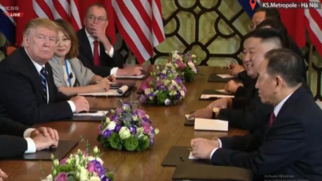 Lãnh đạo Mỹ - Triều Tiên trả lời báo chí sau cuộc họp