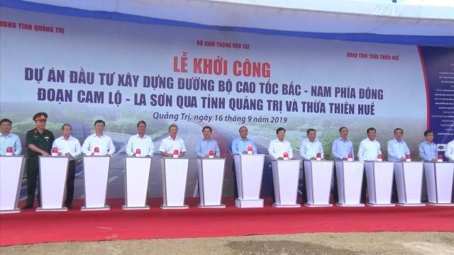 Khởi công dự án tuyến cao tốc Cam Lộ - La Sơn