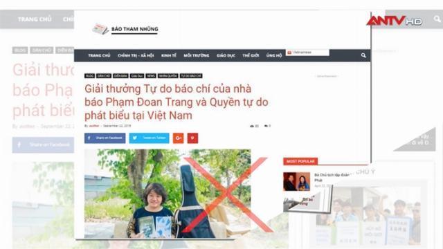 """Vì sao tổ chức phóng viên không biên giới trao giải cho """"nhà đấu tranh dân chủ"""" Phạm Đoan Trang?"""