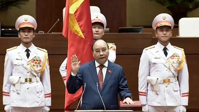 Chủ tịch nước Nguyễn Xuân Phúc tuyên thệ trước Quốc hội sáng 26-7
