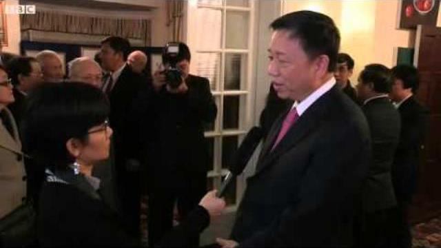 Trung tướng Tô Lâm Thứ trưởng Công an Việt Nam trả lời phỏng vấn đài BBC