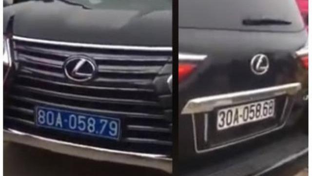 Xe Lexus đầu biển xanh, đuôi biển trắng