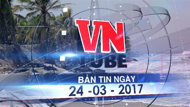 Bản tin VnTube ngày 24-03-2017:Nghi vấn những hợp đồng 'khủng' hút hàng triệu m3 cát tại biển Cửa Đại