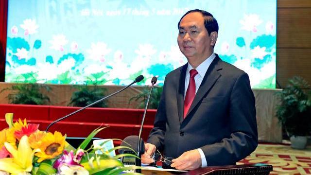 Chủ tịch nước Trần Đại Quang trao giải thướng Hồ Chí Minh trong lĩnh vực Quốc phòng