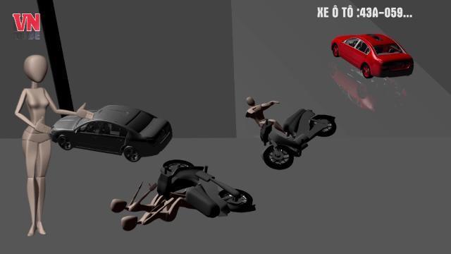 3D - Tai nạn liên hoàn giữa Trung Tâm Thành Phố Đà Nẵng - 3 người thương vong