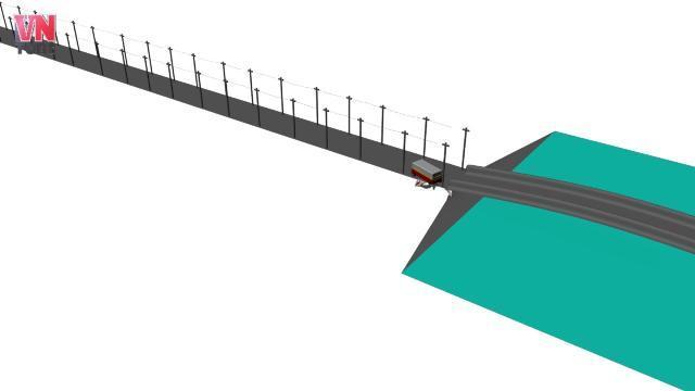 Mô phỏng 3D: Nghệ An: Xe buýt mất lái tông chết lái xe ôm