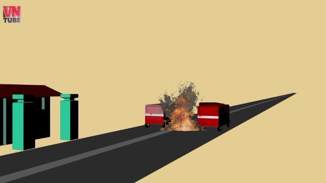 Mô phỏng 3D: Tai nạn nghiêm trọng trên QL1: 3 người chết, 17 người bị thương