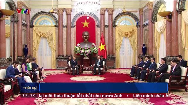 Chủ tịch nước Trần Đại Quang tiếp nguyên Tổng thống Mexico