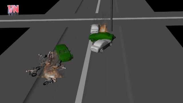 Mô Phỏng 3D: 13 xe hơi, xe máy tông nhau liên hoàn tại quận 12, Ít nhất 2 người chết, 10 bị thương