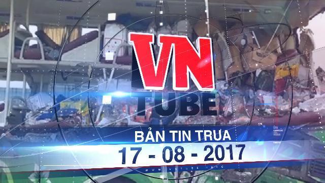 Bản tin VnTube trưa 17-08-2017: Ôtô giường nằm và xe đầu kéo tông nhau, 5 người tử vong