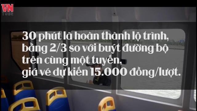 Cận cảnh tàu buýt sông đầu tiên ở TP Hồ Chí Minh