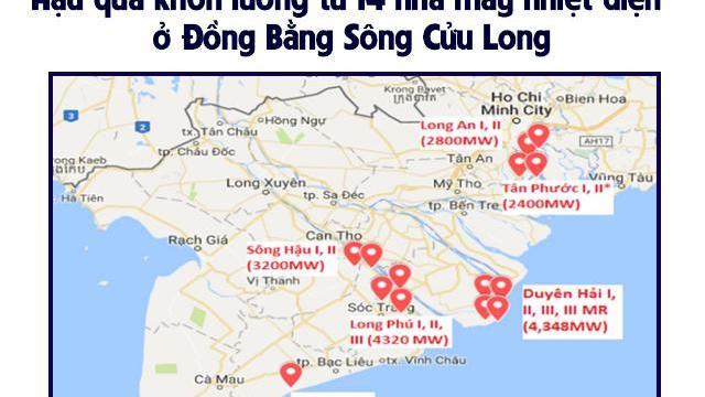 Hậu quả khôn lường từ 14 nhà máy nhiệt điện ở Đồng Bằng Sông Cửu Long