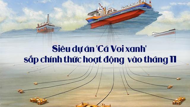 Siêu dự án 'Cá Voi xanh' sắp chính thức hoạt động vào tháng 11