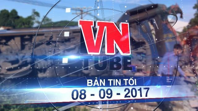 Bản tin VnTube tối 08-09-2017: Tàu chở hơn 200 khách bị trật bánh ở Thanh Hóa