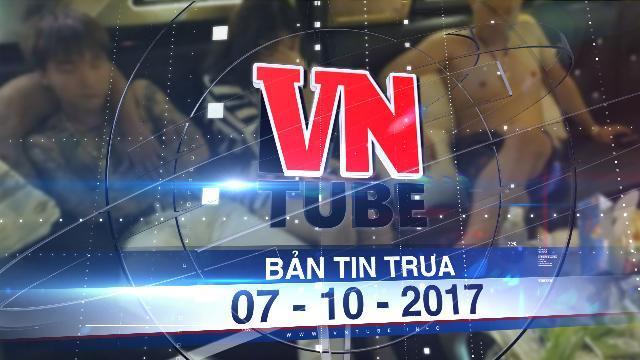 Bản tin VnTube trưa 07-10-2017: Đột nhập quán bar quận 5 bắt hàng trăm dân chơi đang phê ma túy