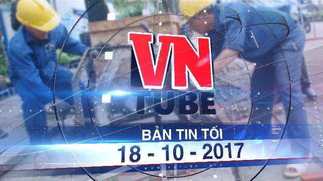 Bản tin VnTube tối 18-10-2017: Phát hiện chất 'lạ' gặp nước đông lại gây ngập đường Nguyễn Hữu Cảnh