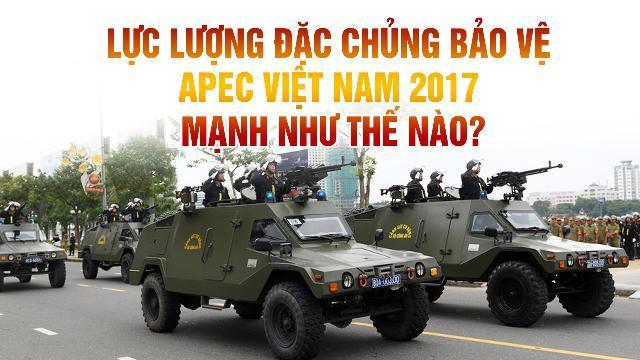 Lực lượng đặc chủng bảo vệ APEC Việt Nam 2017 mạnh như thế nào?