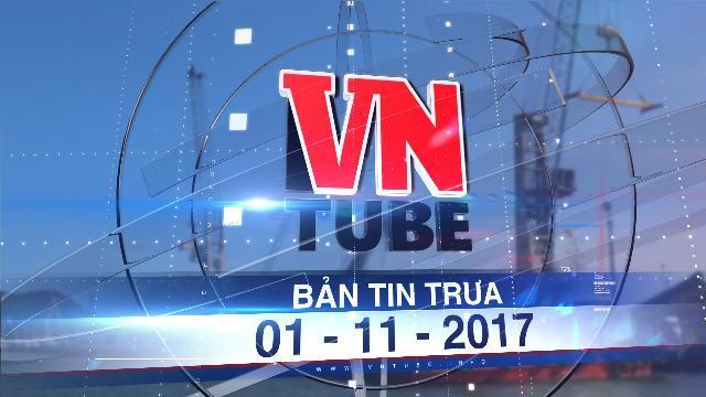 Bản tin VnTube trưa 01-11-2017: Đề xuất đổ 439.000 m3 bùn thải xuống biển Quy Nhơn