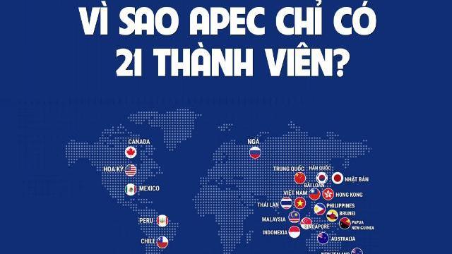 Vì sao APEC chỉ có 21 thành viên?