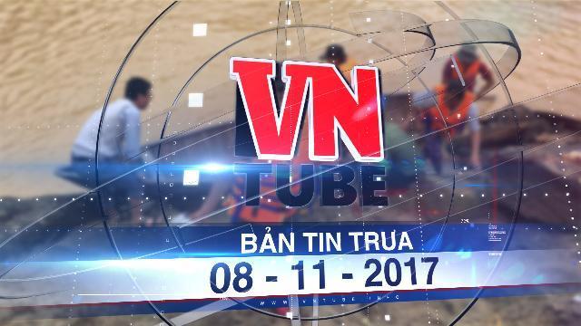 Bản tin VnTube trưa 08-11-2017: Thủy điện Đăk Mi 4 dừng xả lũ khẩn, giải cứu 15 người mắc kẹt.