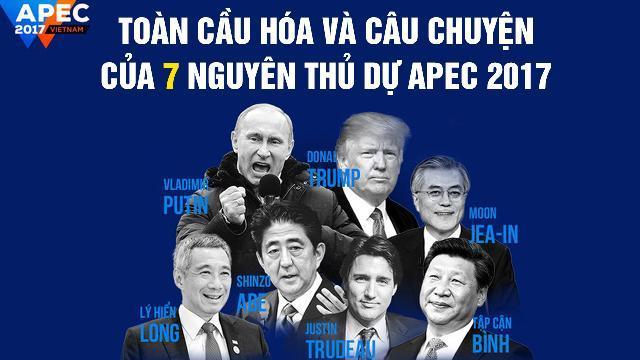 Toàn cầu hóa và câu chuyện của 7 nguyên thủ dự Apec 2017