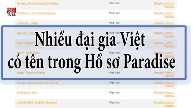 Nhiều đại gia Việt có tên trong Hồ sơ Paradise