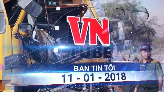 Bản tin VnTube tối 11-01-2018: Xe cứu hộ tông container trên cầu Phú Mỹ, 3 người chết