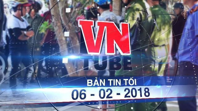 Bản tin VnTube tối 06-02-2018: Đâm hai công an bị thương sau khi bị đo nồng độ cồn