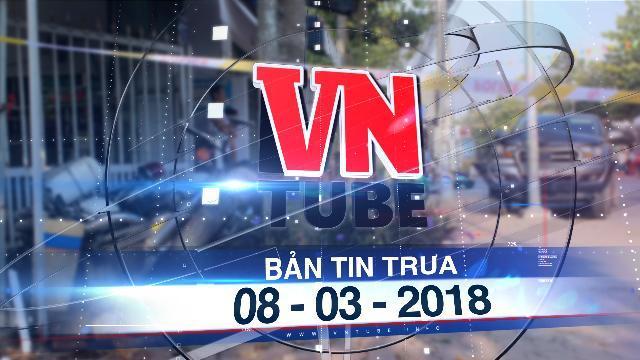 Bản tin VnTube trưa 08-03-2018: Bắt 2 tài xế dương tính với ma túy tông xe vào CSGT