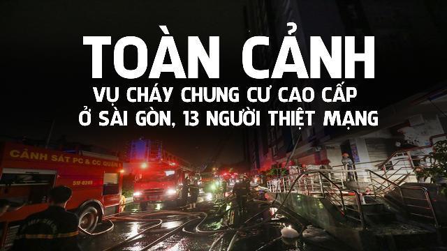 Toàn cảnh vụ Cháy chung cư cao cấp ở Sài Gòn, 13 người thiệt mạng