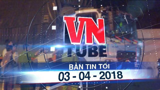 Bản tin VnTube tối 03-04-2018: Tài xế lao xe vào cảnh sát rồi cầm hung khí cố thủ trong cabin