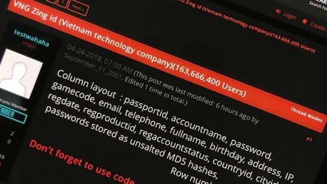 Toàn cảnh an ninh mạng số 1 tháng 05: Hơn 160 triệu tài khoản Zing ID bị lộ
