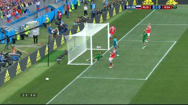 Phút thứ 55 Arab bỏ lỡ pha ghi bàn của đội mình