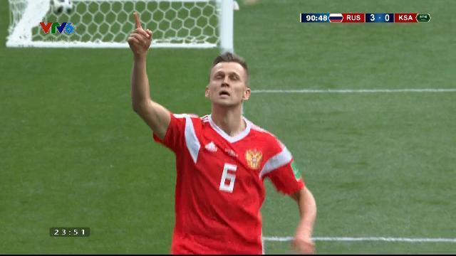 Pha ghi bàn thứ 4 của Nga ở phú thứ 90
