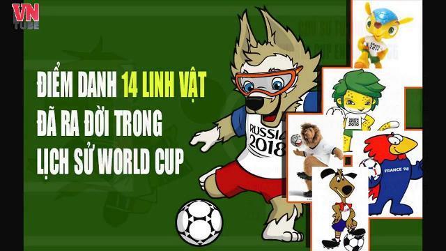 Điểm danh 14 linh vật đã ra đời trong lịch sử World Cup