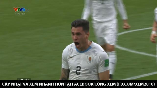 Pha ghi bàn mở đầu tỉ số của đội Uruguay
