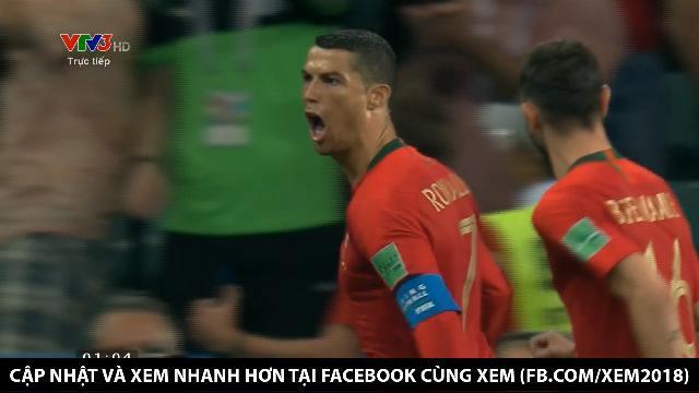 Ronaldo mở tỉ số cho Bồ Đào Nha
