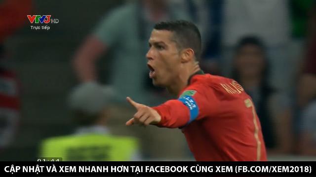 Pha ghi bàn thứ 2 của Ronaldo nâng tỉ số lên 2-1