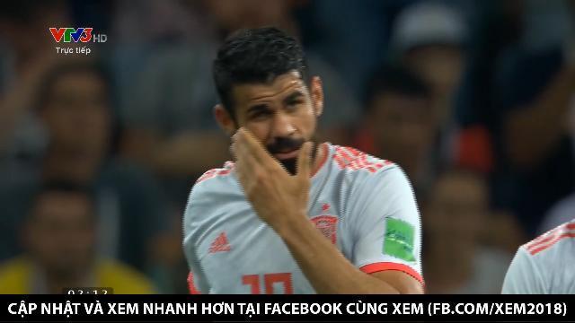 Diego Costa tiếp tục ghi bàn mang lại kết quả 2 - 2 cho Tây Ban Nha