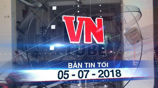Bản tin VnTube tối 05-07-2018: Bắt 8 nghi phạm khủng bố trụ sở công an phường tại TP.HCM