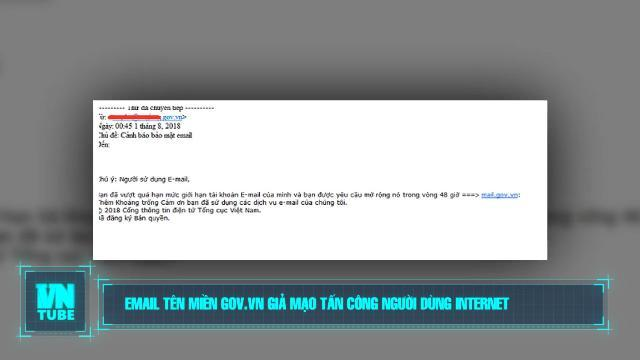 Toàn cảnh an ninh mạng số 2 tháng 08: Email tên miền gov.vn giả mạo tấn công người dùng internet