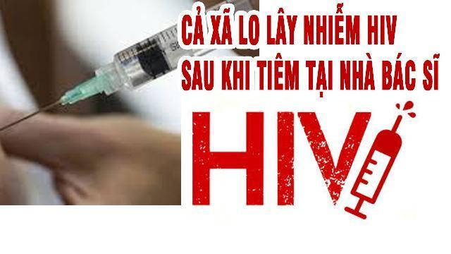 Cả xã lo lây nhiễm HIV sau khi tiêm tại nhà bác sĩ